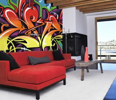 graffiti art, graffiti alphabet, hotel room