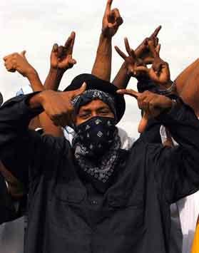 Piru Hand Signs