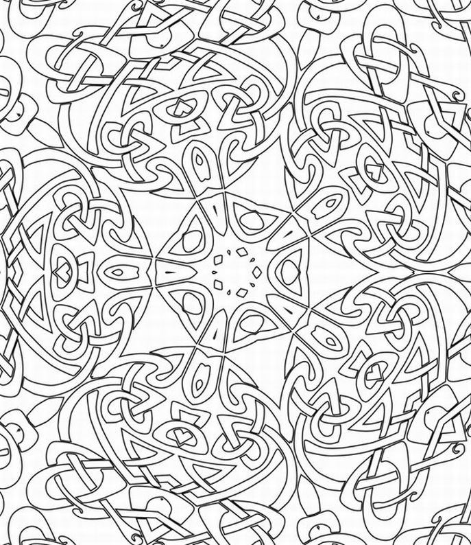 pattern coloring pages printable free - photo#9