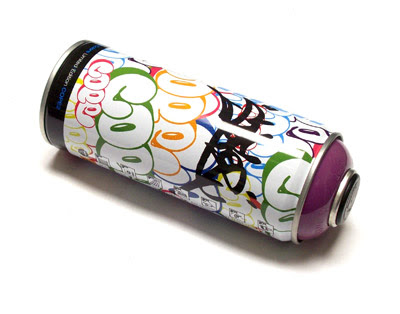 Design of Bubble Letter Words On Paint Cans2