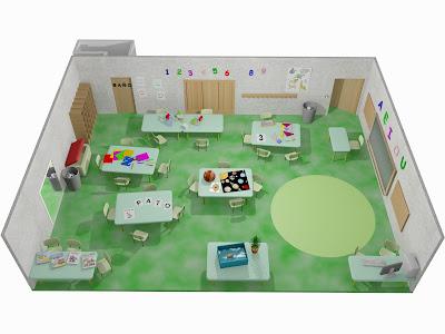 Franfx 3d aula de educaci n infantil for Plano aula educacion infantil