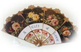 abanico victoriano rosas