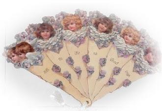 abanico victoriano querubines
