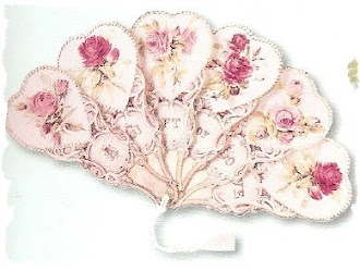 abanico victoriano rosa