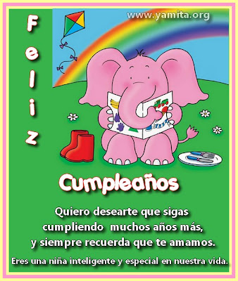  ... tarjeta para poder felicitar a una nina en la fecha de su cumpleanos