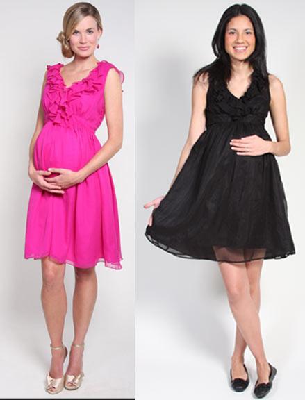 Vestidos de embarazada para baby shower en invierno