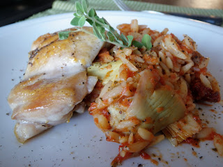 Sun dried tomato chicken with orzo - Scrumptiously Fit Food