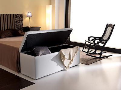 C mo ganar espacio de almacenamiento en el dormitorio - Baul asiento dormitorio ...
