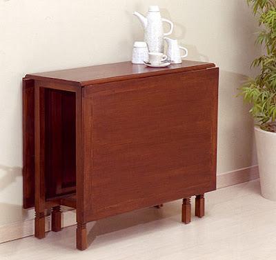 Mesa plegable 4 sillas terraza comedor o cocina car - Mesas plegables de comedor ...