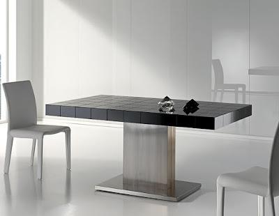 Mesas de comedor por la decoradora experta laca cristal y acero - Mesa comedor diseno ...
