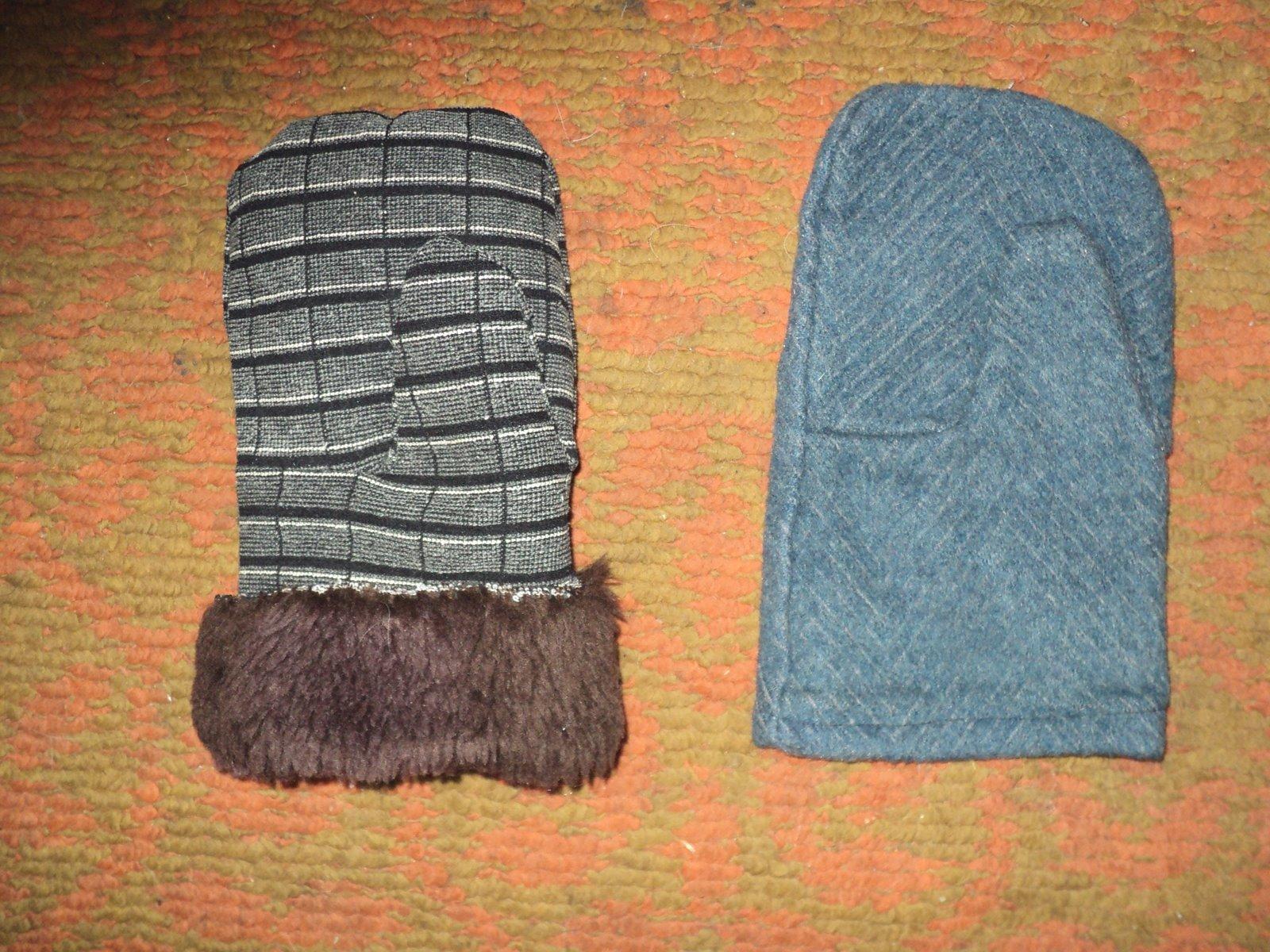 Варежки своими руками теплые
