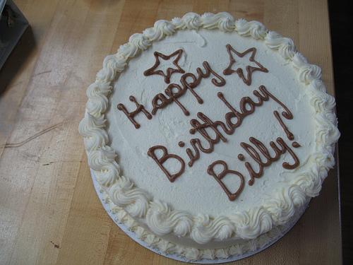 Happy Birthday Billy Cake
