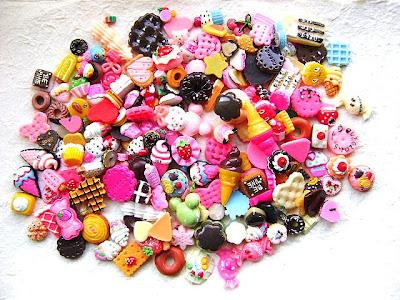 Любите ли вы сладости? Cute+Japanese+Cabochons+200+BIG+Set+Mix+Sweets+Only+SPECIAL+PACK+B