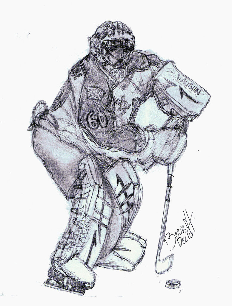 How To Draw A Hockey Goalie