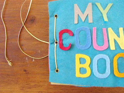 handmade counting book