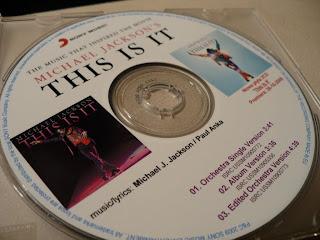 Michael Jackson This Is It promo singiel singlecd PRSP09-58