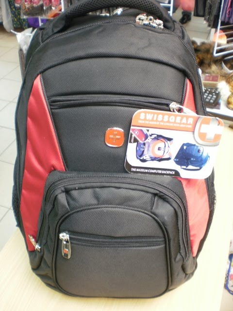 SWISS GEAR LAPTOP BAG ( RED )