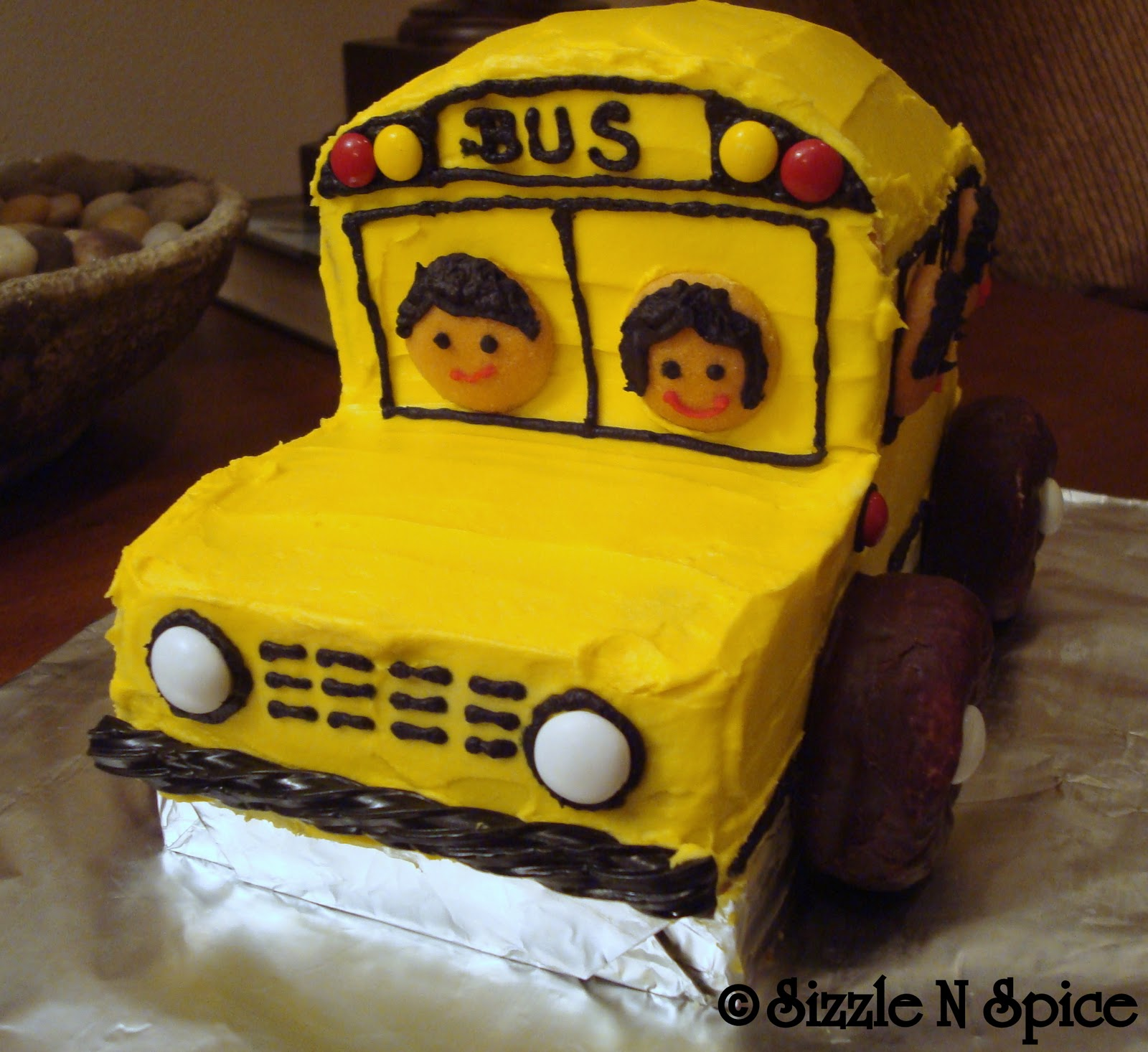 Sizzle N Spice School Bus Cake Cupcakes And Cookies
