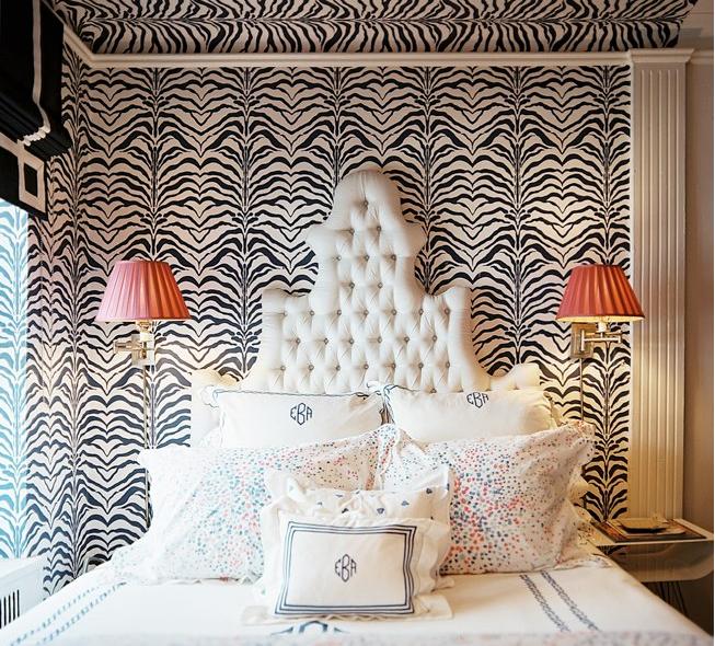 Pink Grasscloth Wallpaper: Chic Geek : More Zebra Love