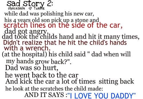 sad story of broken family