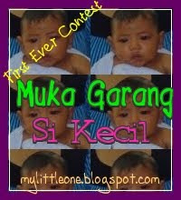 My First Ever Contest : Muka Garang Si Kecil