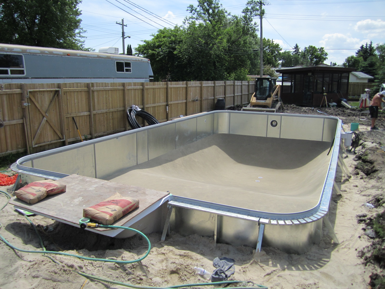 how to build your own inground pool cheap