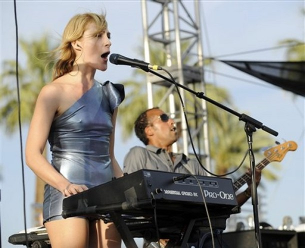 Emily Haines and Josh Winstead of Metric at Coachella 2008. Photo by AP.