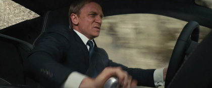 Daniel Craig's stick shift lessons have paid off.