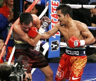 Round 7 of De La Hoya vs. Pacquiao