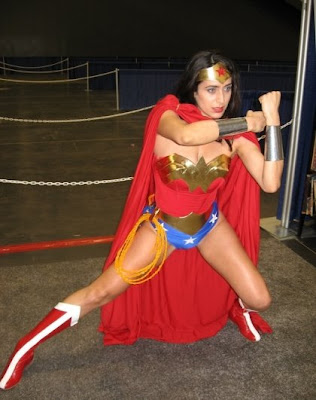 Wonder Woman cosplay at WonderCon 2007, by Team Misaki Studios