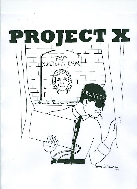 Project X T-shirt design by Jimmy J. Aquino, phase 5