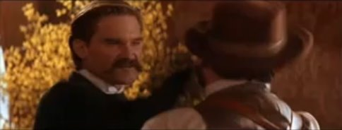Kurt Russell bitchslaps Billy Bob Thornton in Tombstone. Fifteen years after Tombstone's release, 33 million Canucks see this scene during a History Television broadcast of Tombstone and rejoice.