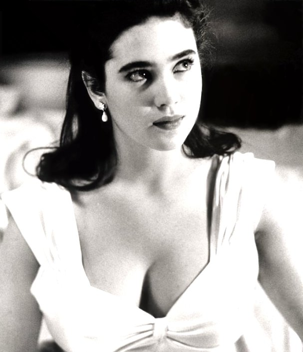Jennifer Connelly, years before overly dour material like Requiem for a Dream, House of Sand and Fog, A Beautiful Mind, Hulk and The Day the Earth Stood Still, not to mention her father's death, sucked the life--and curves--out of her.