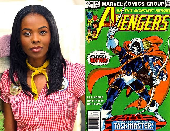 Monica (Dana Davis), Heroes' quickly-forgotten-because-the-showrunners-have-ADD supporting character, and another 'photographic reflexes' character, the Marvel Comics villain Taskmaster.