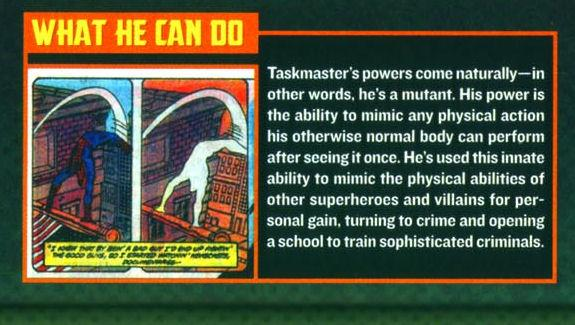 On the other hand, what Taskmaster can't do is find a costume that doesn't make bystanders laugh.