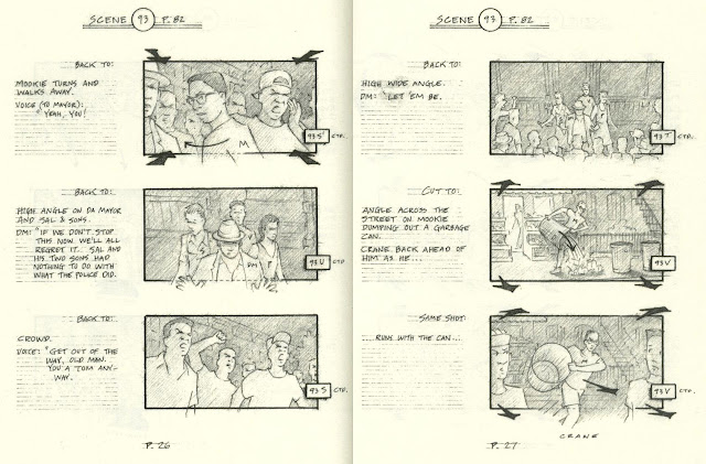The storyboard version of the riot sequence is featured in its entirety as an extra on the 20th anniversary DVD and Blu-ray releases.
