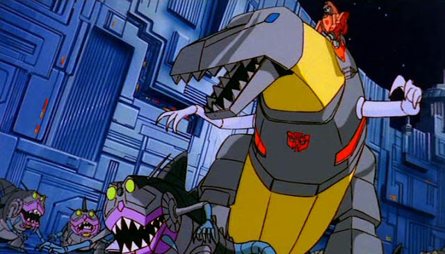 Grimlock's not exactly a fan of Shark Week.