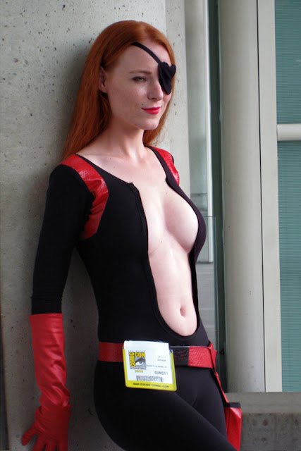 A Molotov Cocktease cosplayer at the 2008 San Diego Comic-Con.