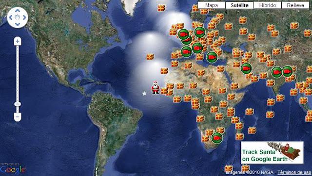 Siguiendo el recorrido de Papa Noel (Santa Claus) por el mundo
