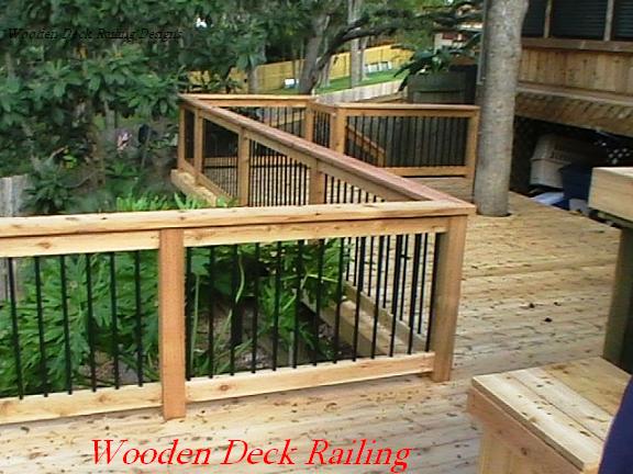 Ideas For Deck Railing Design Wooden Deck Railing Designs