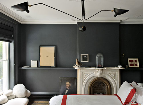 Black Wall Paint armas design: ubiquitus blogger black walls