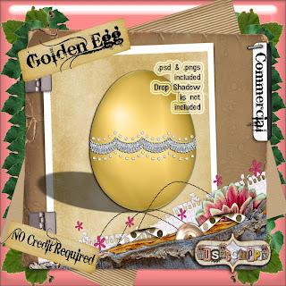 Golden Egg - By: BusyScrappin Folder