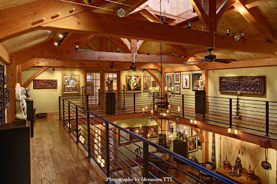 timber frame loft art gallery