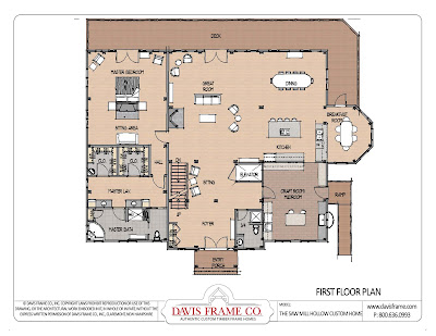 Timber Frame Floor Plan Feature: Classic Cape 1B