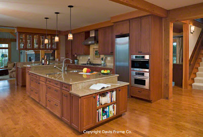 gourmet timber frame kitchen