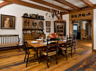 traditional style timber frame dining