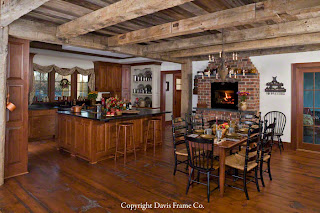 rustic timber frame kitchen
