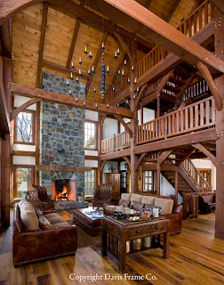 rustic timber frame home decor