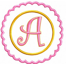 Frilly Circle Alphabet