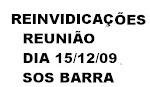 REINVIDICAÇÕES DO DIA 15 DE DEZEMBRO DE 2009